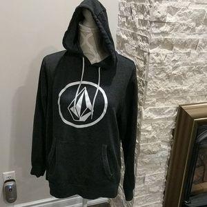 Volcom. Heathered gray hoodie